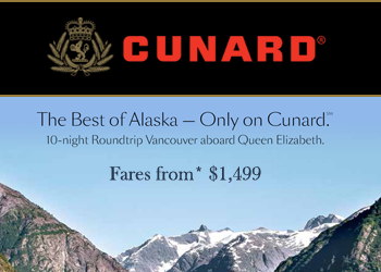 Cunard: 10-night Roundtrip Vancouver