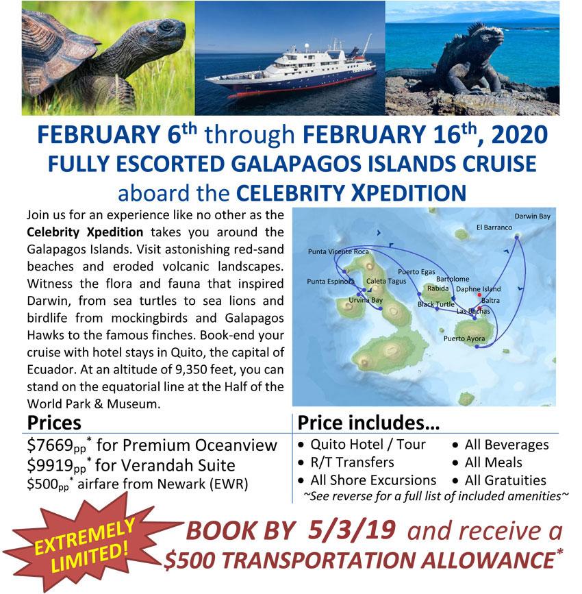 Celebrity Cruises: Galapagos Islands