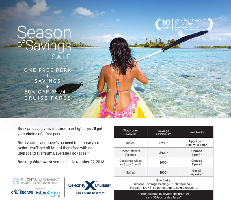 Celebrity: Season of Savings Sale - Best Cruises & Tours