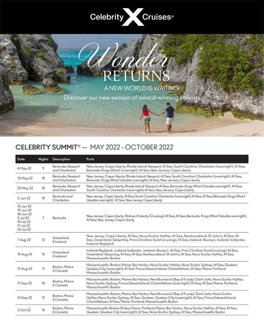 Celebrity Cruises: Wonder Returns