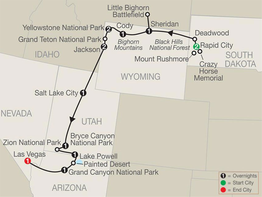 Globus Parks Canyons Spectacular Map