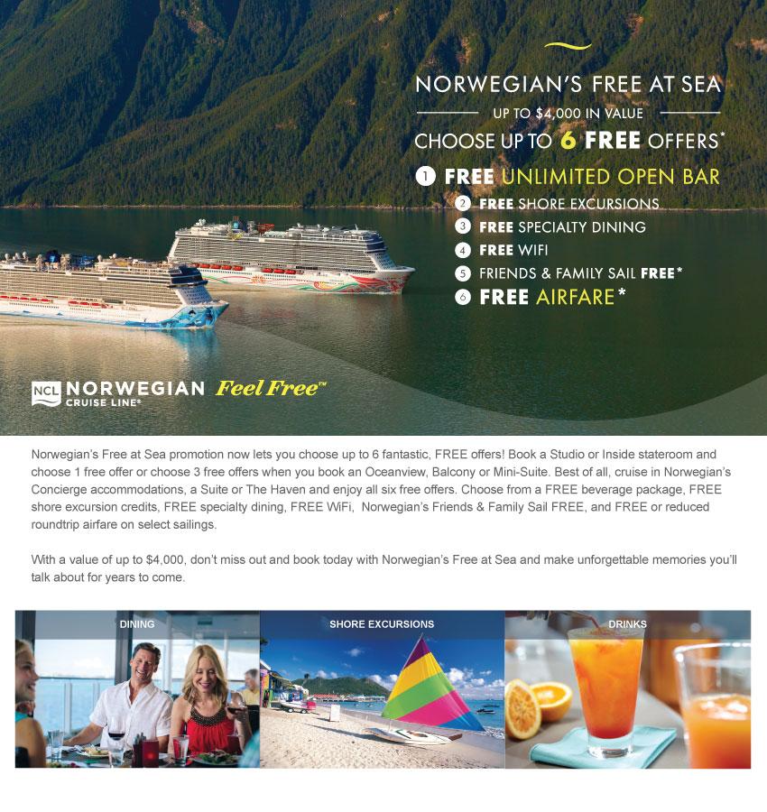 Norwegian's Free at Sea