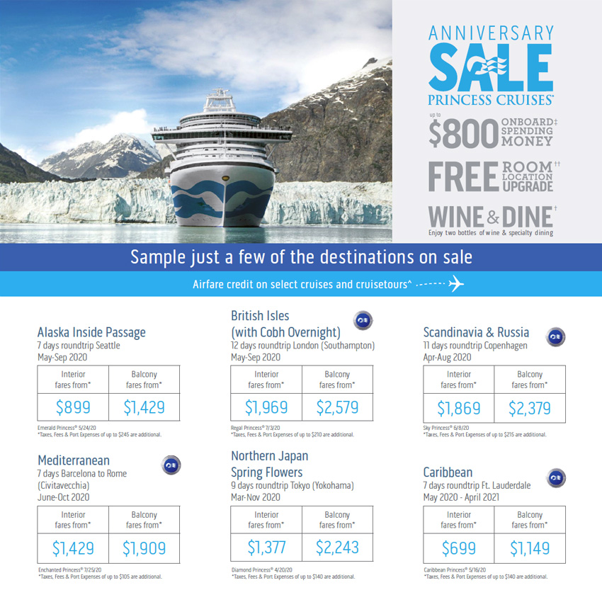 Princess Cruises: Anniversary Sale
