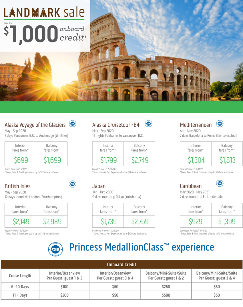 Princess Cruises: Landmark Sale