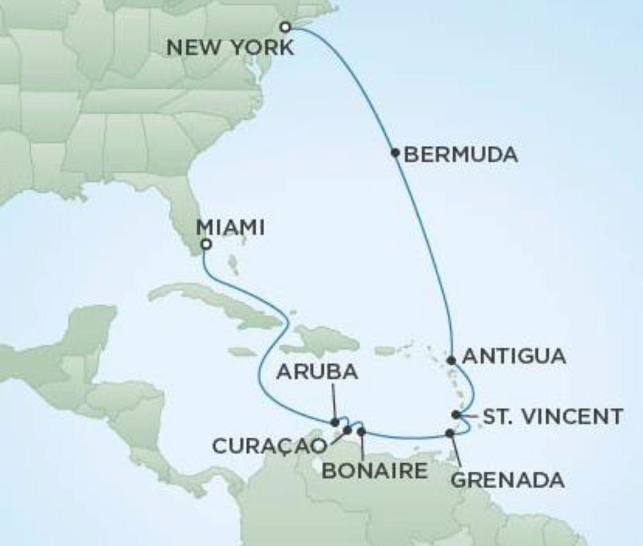 Regent Seven Seas Navigator Map